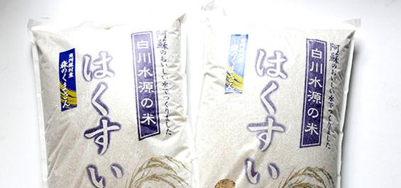 南阿蘇のお米 はくすい米