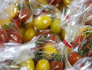 恵み豊かな大地。毎朝採れたての野菜や果物。
